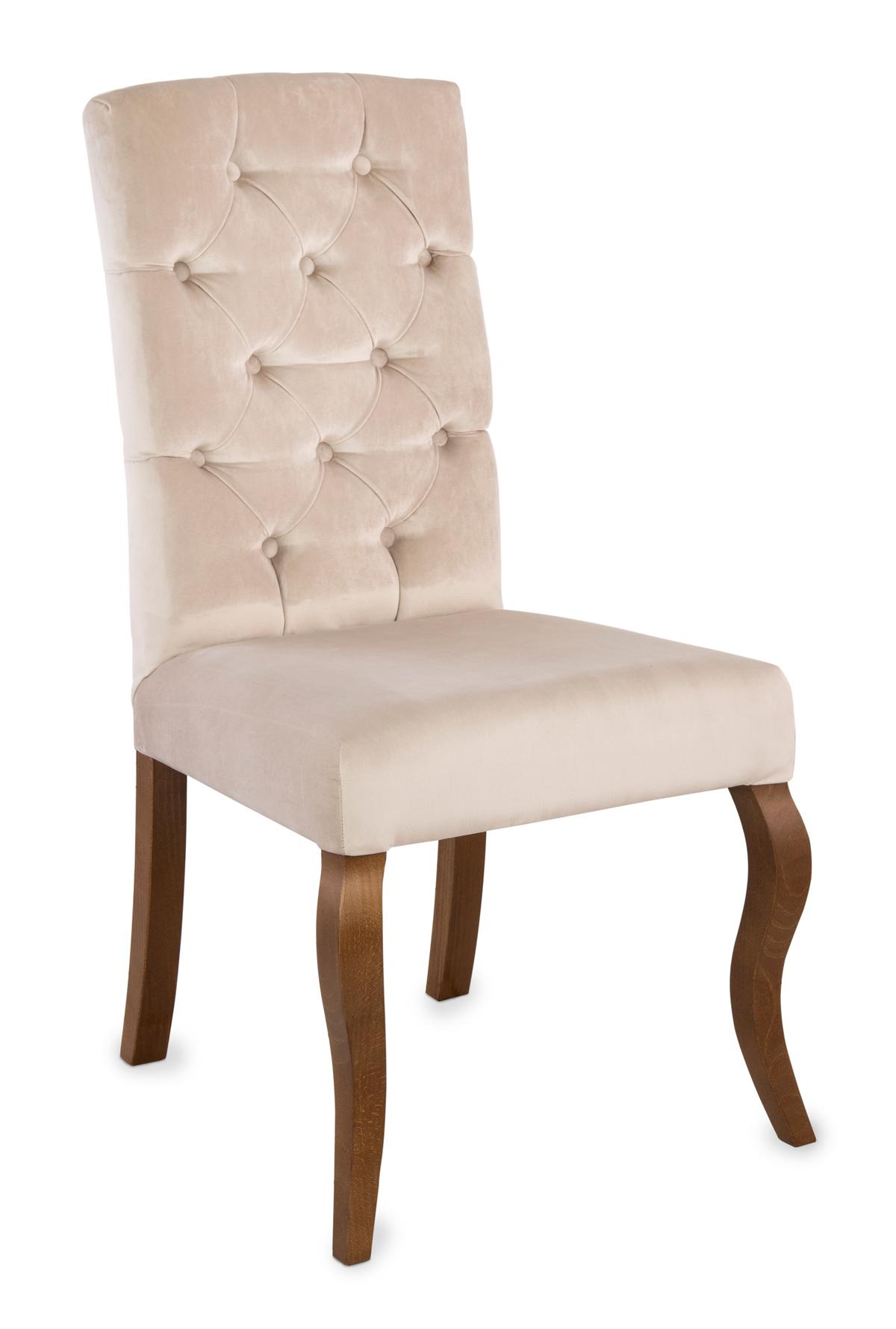 Krzesło Astoria pikowanie Chesterfield, nogi Ludwik