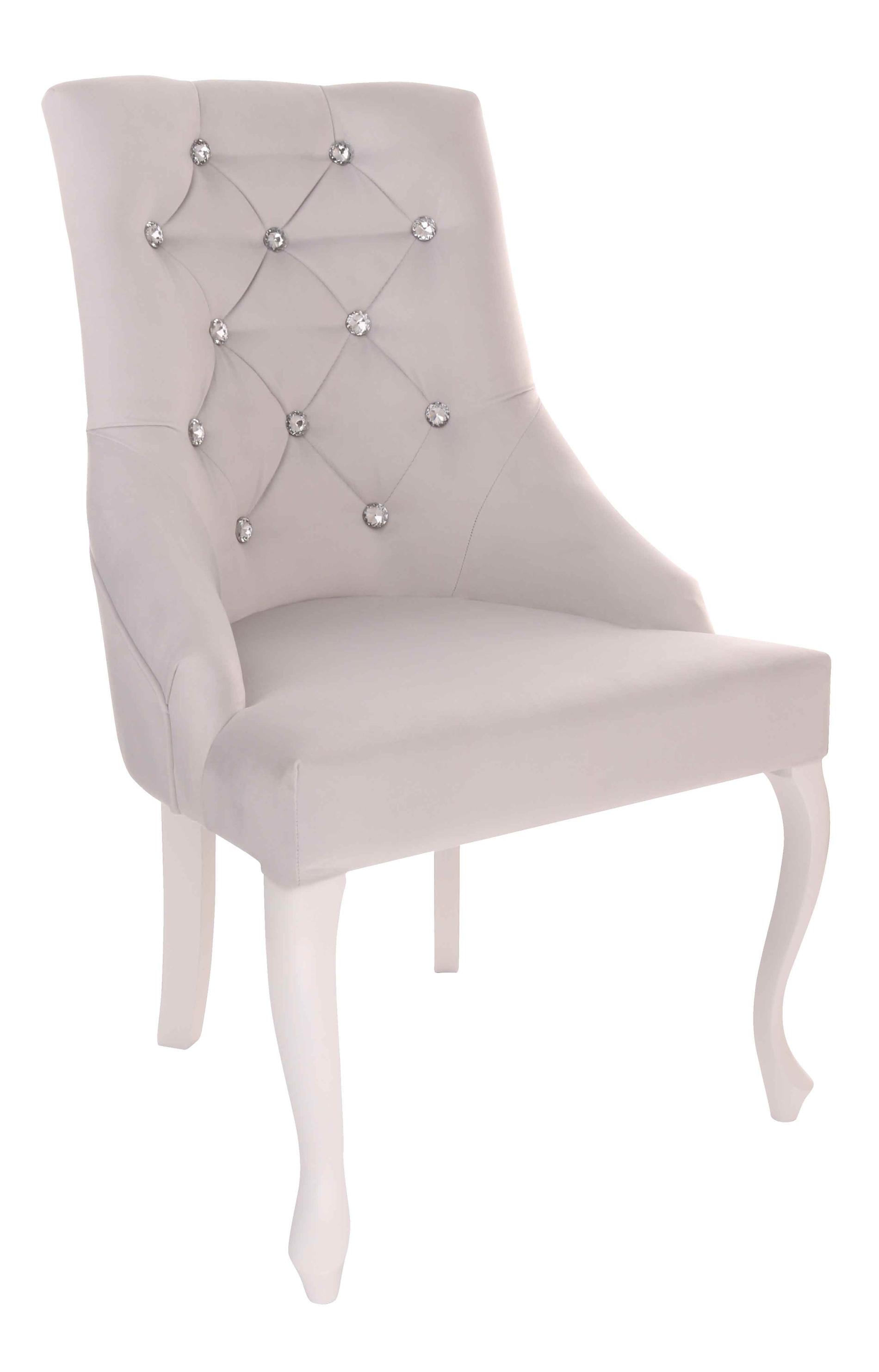 Krzesło Cristal z kryształkami, nogi Ludwik