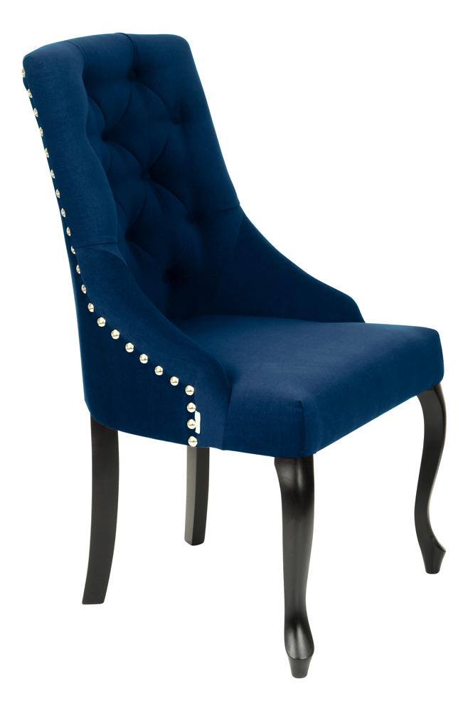 Krzesło Sisi 2 z pinezką, nogi Ludwik