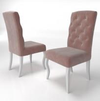 Krzesło Astoria pikowanie Chesterfield, nogi Ludwik - zdjęcie 5