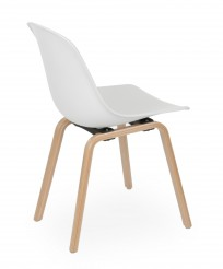 Krzesło Piano wood Biały - zdjęcie 4
