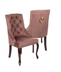 Krzesło Sisi 3 z pinezkami i kołatką, nogi Ludwik - zdjęcie 12