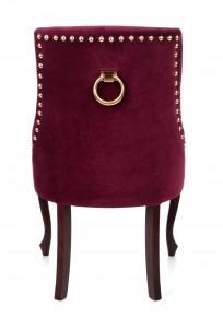 Krzesło Alexis 3 z pinezkami i kołatką, nogi Ludwik - zdjęcie 3