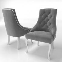 Krzesło Sisi 2 z pinezką, nogi Ludwik - zdjęcie 4