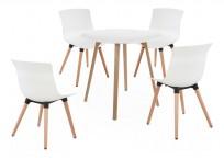 Zestaw Piano stół + 4 krzesła Fox - 24h
