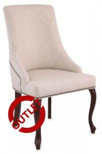 Krzesło Alexis 2 z pinezkami, nogi  Ludwik - OUTLET