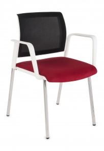 Krzesło Set Net Arm White - zdjęcie 2