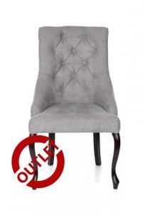 Krzesło Sisi 2 z pinezką, nogi Ludwik - Outlet