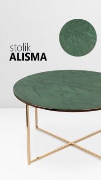 Stolik kawowy Alisma green / golden - zdjęcie 4