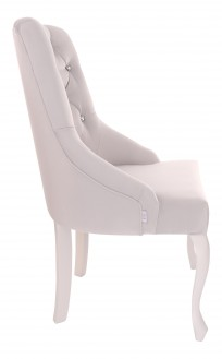 Krzesło Cristal z kryształkami, nogi Ludwik - zdjęcie 3