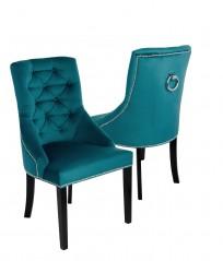 Krzesło Sisi 3 z pinezkami i kołatką