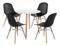 Zestaw Piano stół + 4 krzesła - 24h
