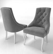 Krzesło Sisi 2 z pinezką, nogi Ludwik - zdjęcie 5