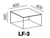 Stolik kwadratowy Loft LF-3 - zdjęcie 3