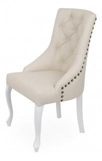 Krzesło Sisi 3 z pinezkami i kołatką, nogi Ludwik - zdjęcie 10