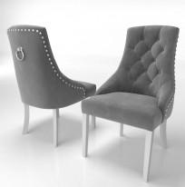 Krzesło Sisi 3 z pinezkami i kołatką - zdjęcie 20