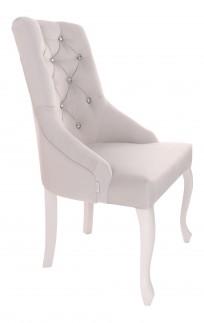 Krzesło Cristal z kryształkami, nogi Ludwik - zdjęcie 4