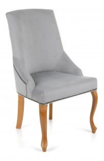 Krzeslo Alexis 2 z pinezkami, nogi Ludwik