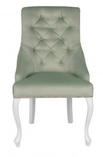Krzesło Sisi 3 z pinezkami i kołatką, nogi Ludwik - zdjęcie 4