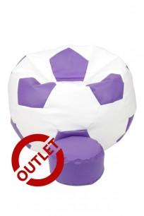 Pufa Football XXL Fiolet - OUTLET
