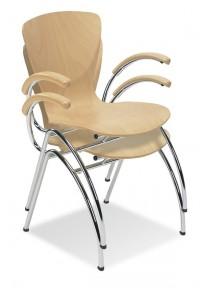Krzesło Bingo Arm wood - zdjęcie 3