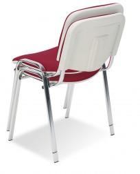 Krzesło Iso bianco chrome